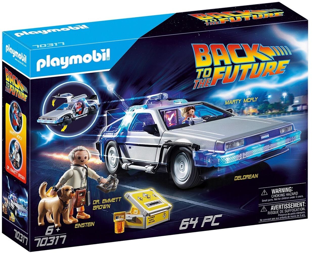Jouet Playmobil Retour vers le futur DeLorean (70317)