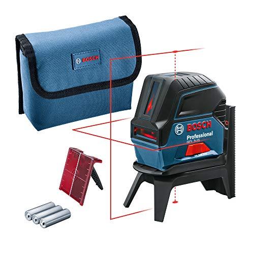 Laser ligne en croix Bosch GCL 2-15 Professional GCL avec support rotatif RM 1 et housse de protection