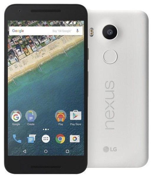 "Smartphone 5.2"" LG Nexus 5X - 16 Go, blanc"