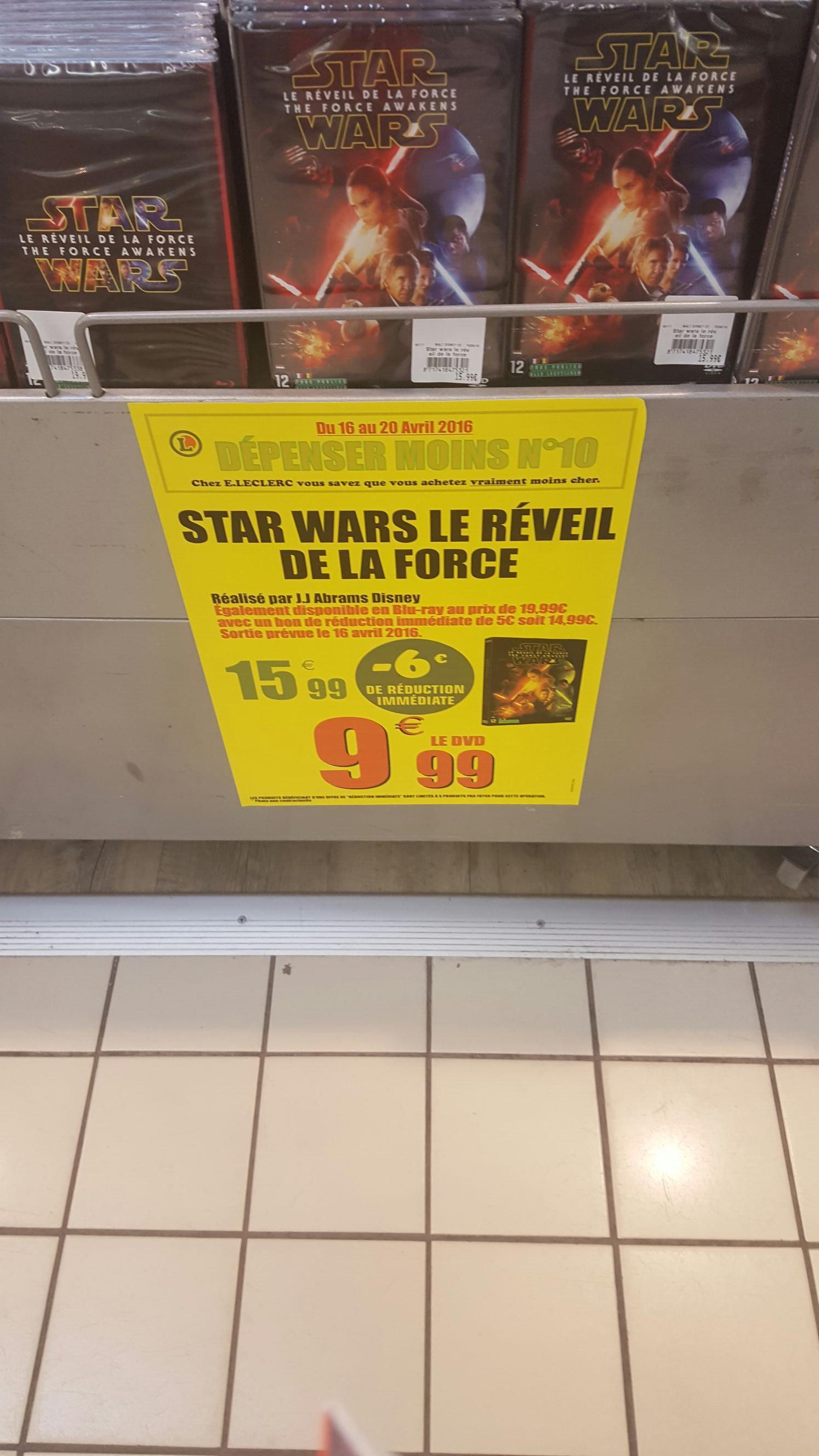 DVD Star Wars, épisode VII : Le Réveil de la Force