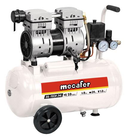 Compresseur à air silencieux MECAFER - 24L (Via retrait dans une sélection de magasins)