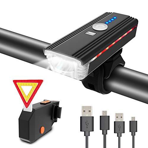 Lumière de vélo Itshiny - USB Rechargeable - avant + arrière + klaxon (vendeur tiers)