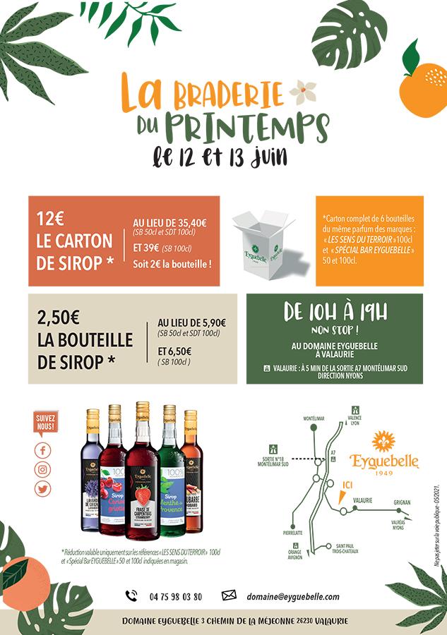 Sélection de sirops Eyguebelle en promotion - Ex: Bouteille Sirop Sapin Douceur (500 ml) - Valaurie (26)