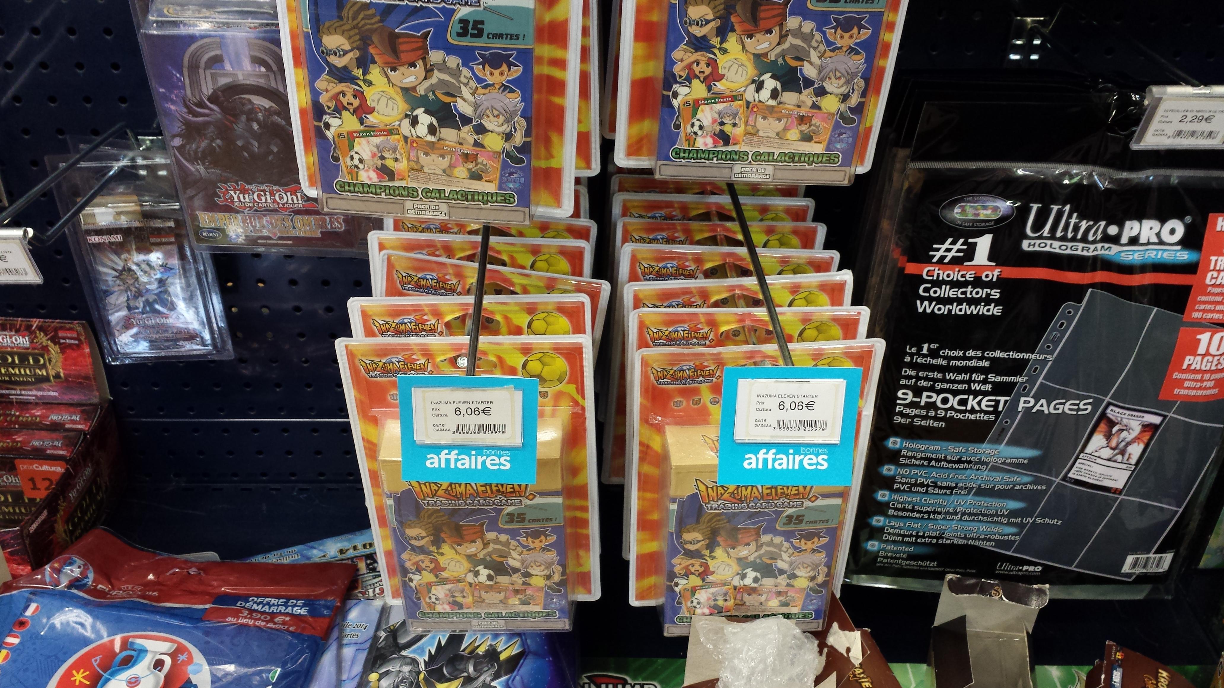 Deck Inazuma Eleven (35 cartes) + tapis de jeu