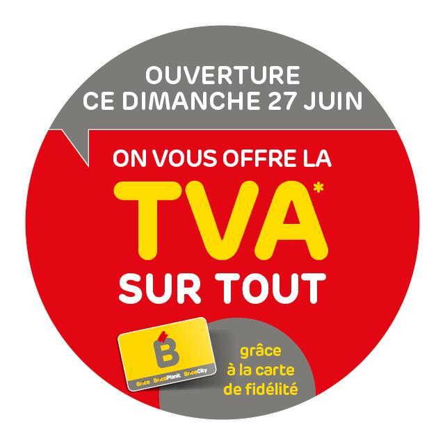 [Carte fidélité] TVA offerte en magasin Brico, BricoCity et BricoPlanit (Frontaliers Belgique)