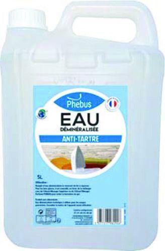 Bidon d'eau déminéralisée antitartre Phebus - 5L