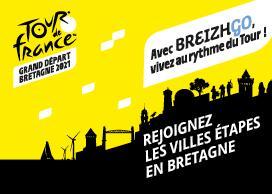 50% de réduction sur Billets TER vers les villes étapes du Tour de France en Bretagne - Ex : Courte distance