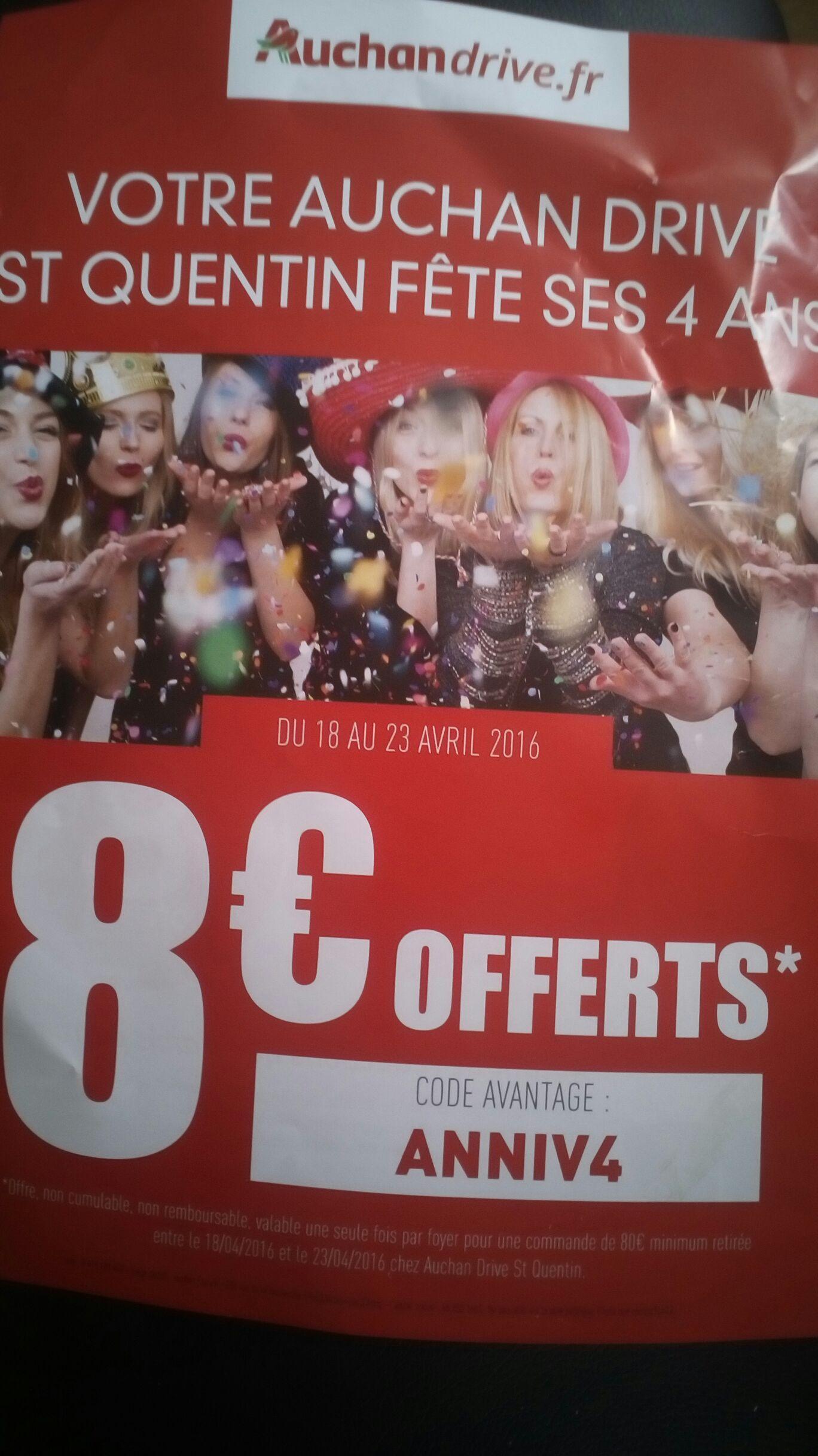 8€ de réduction dès 80€ d'achat