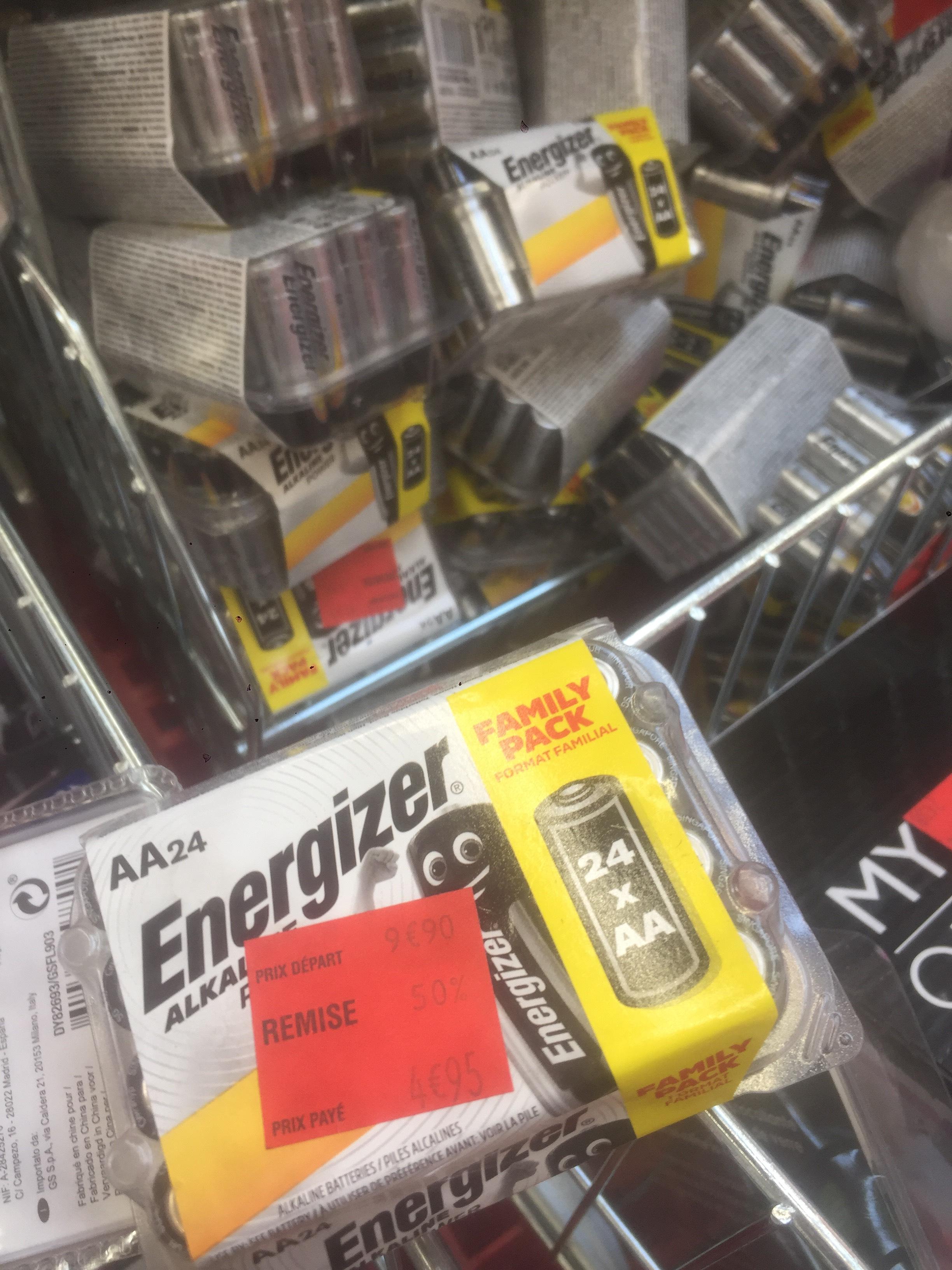 Pack de 24 pile AA Energizer magasin - Portet (31)