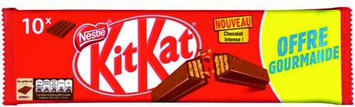 Lot de 2 paquets de 10 barres chocolatées KitKat (chocolat lait, blanc ou noir)