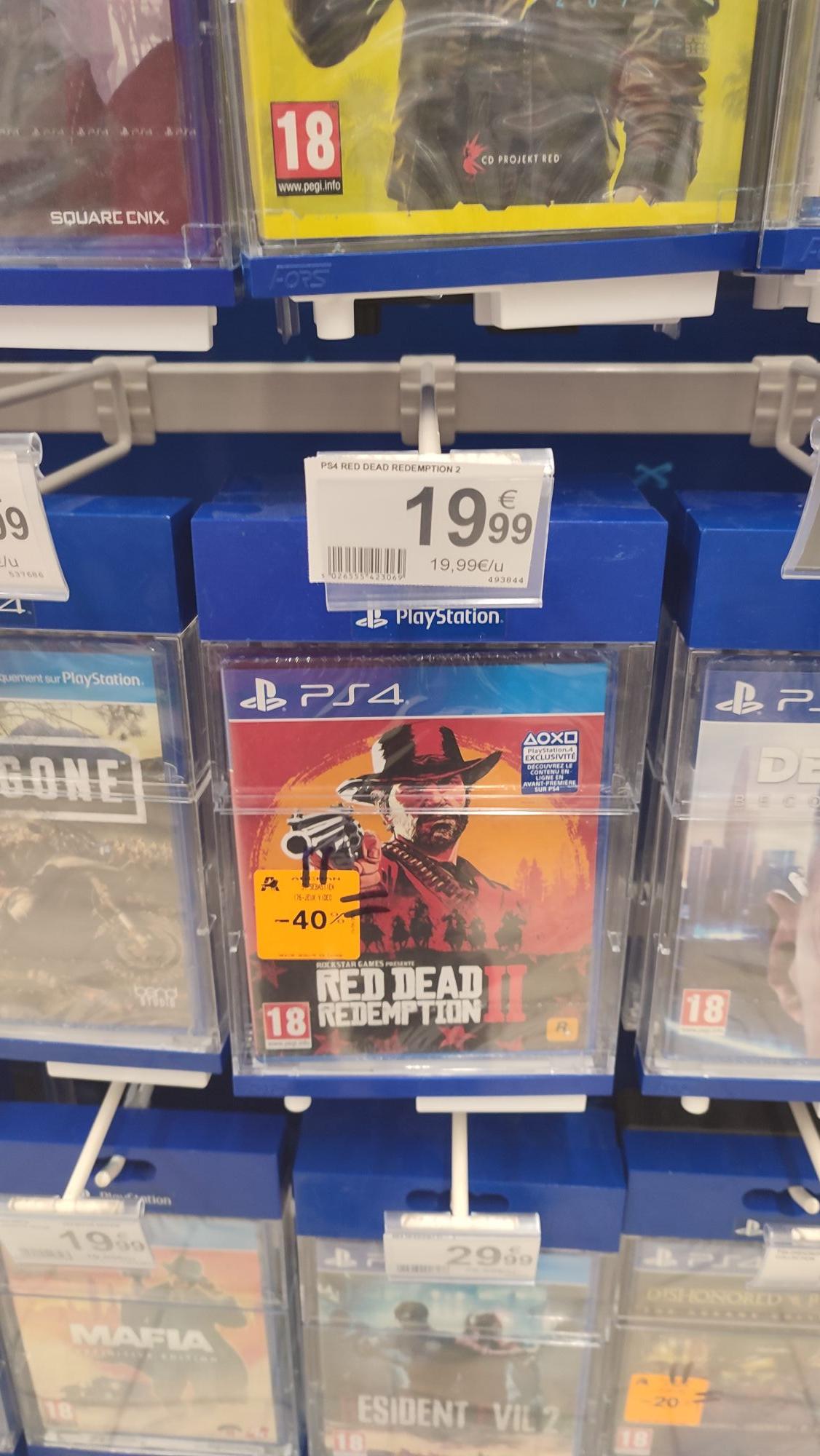 Jeu Red dead rédemption 2 sur PS4 - Auchan saint Sébastien sur Loire (44)