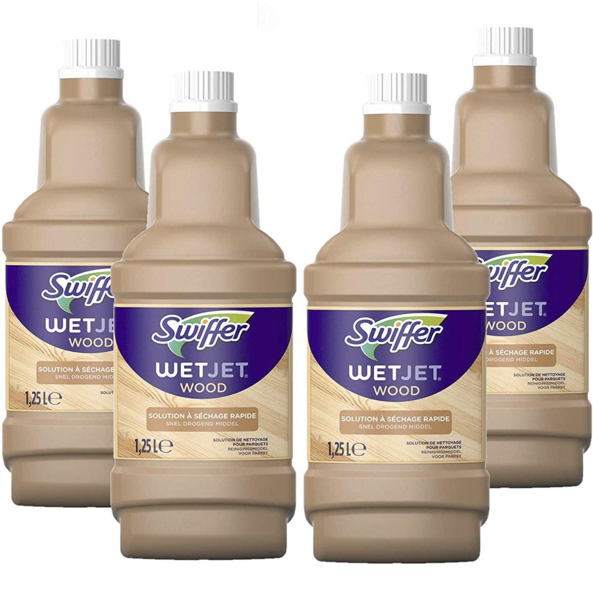 Nettoyant Sol pour Balai Spray Swiffer WetJet Wood - Pour les sols en bois fini, 5 L (Via abonnement résiliable)