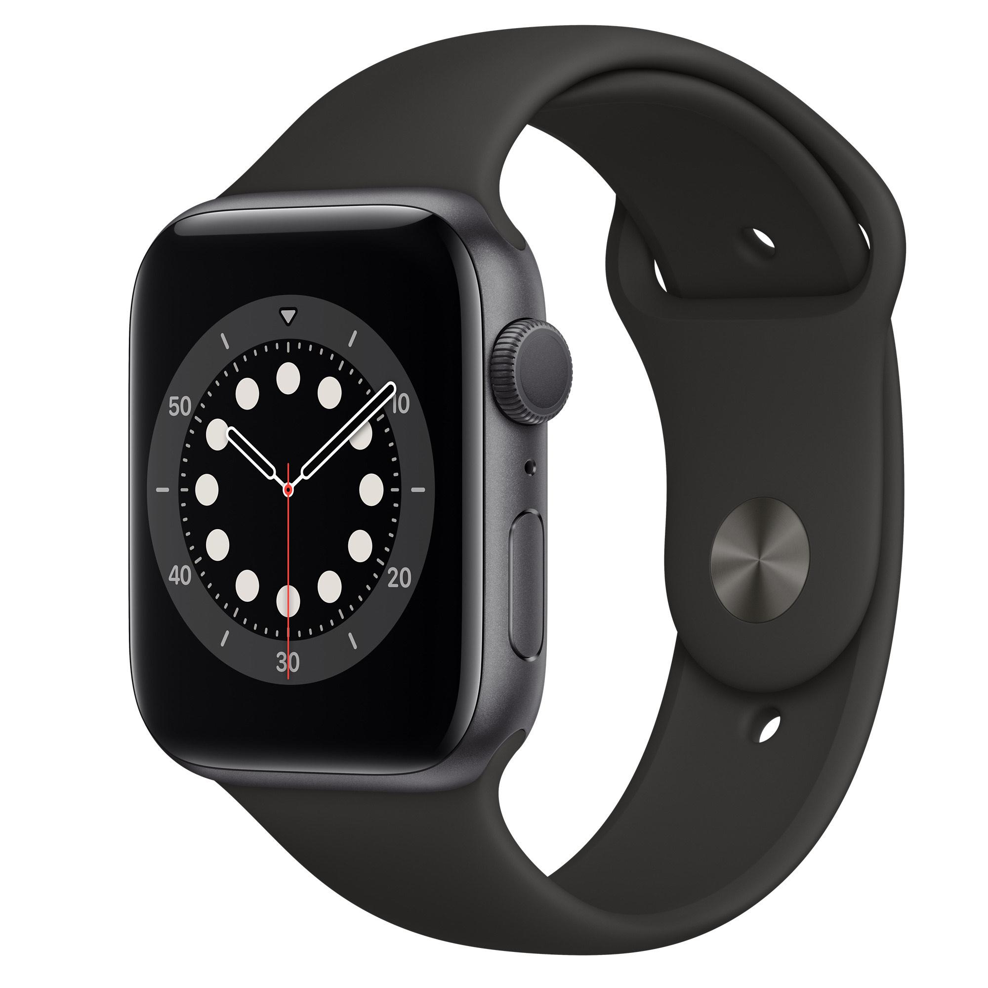 Montre connectée Apple Watch Series 6 - GPS, 44 mm, Gris sidéral