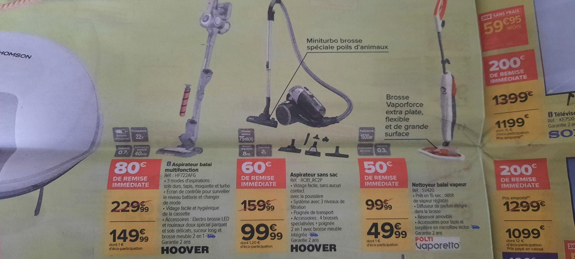 Sélection d'aspirateurs Hoover en promotion - Ex : Aspirateur balai sans-fil HF722AFG
