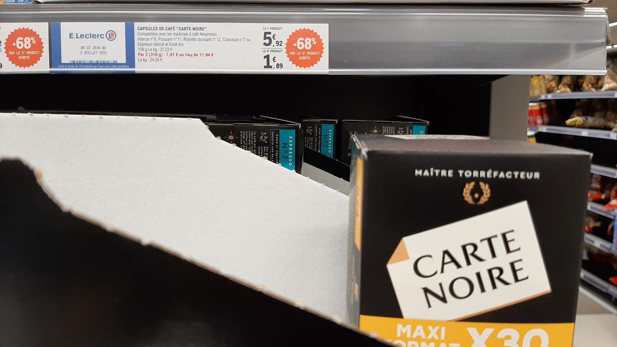 Lot de 2 Boites de 30 capsules Carte Noire compatibles Nespresso - Bois d'Arcy (78)