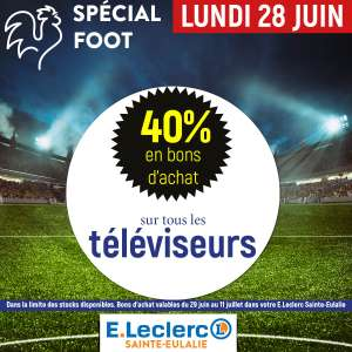 40% en bons d'achat sur toutes les TV - Sainte-Eulalie (33)