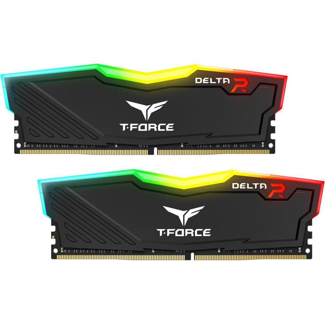 Kit mémoire RAM DDR4 Team Group T-Force Delta RGB 32 Go (2 x 16 Go) - 3200, CL16