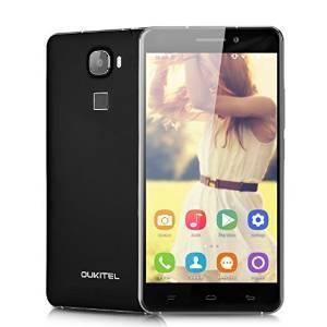 "Smartphone 5.5"" Oukitel U8 4G, HD IPS, MTK6735 64 bit Quad-Core, RAM 2 Go, ROM 16 Go, Noir"
