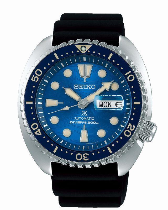 """Montre automatique Seiko Prospex King Turtle """"Save the Ocean"""" SRPE07K1 - Verre Saphir, mouvement 4R36, 45 mm (tempka.com)"""