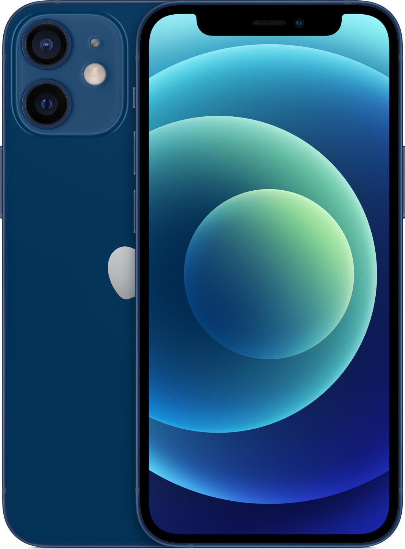 "Smartphone 5.4"" Apple iPhone 12 Mini 64 Go - 5G, Full HD+ Retina, A14, 4Go RAM - Bleu ou rouge"