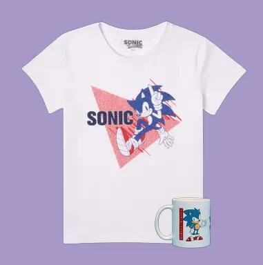 1 T-shirt Sonic The Hedgehog pour Homme ou Femme - Tailles du XS au 5XL + 1 Mug (Livraison gratuite)