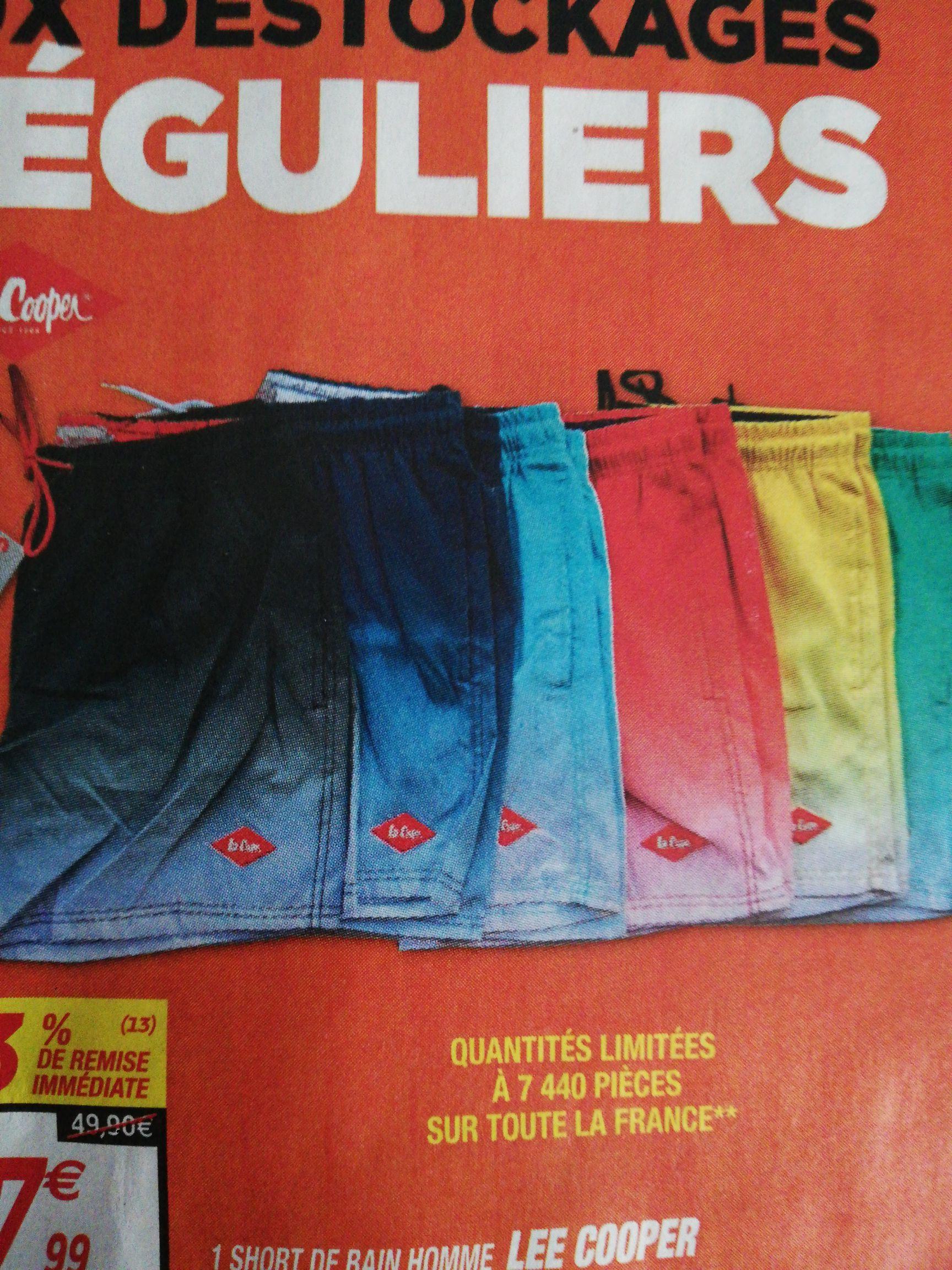 Short de bain Lee Cooper pour Homme - Différents coloris, Tailles S à 2XL