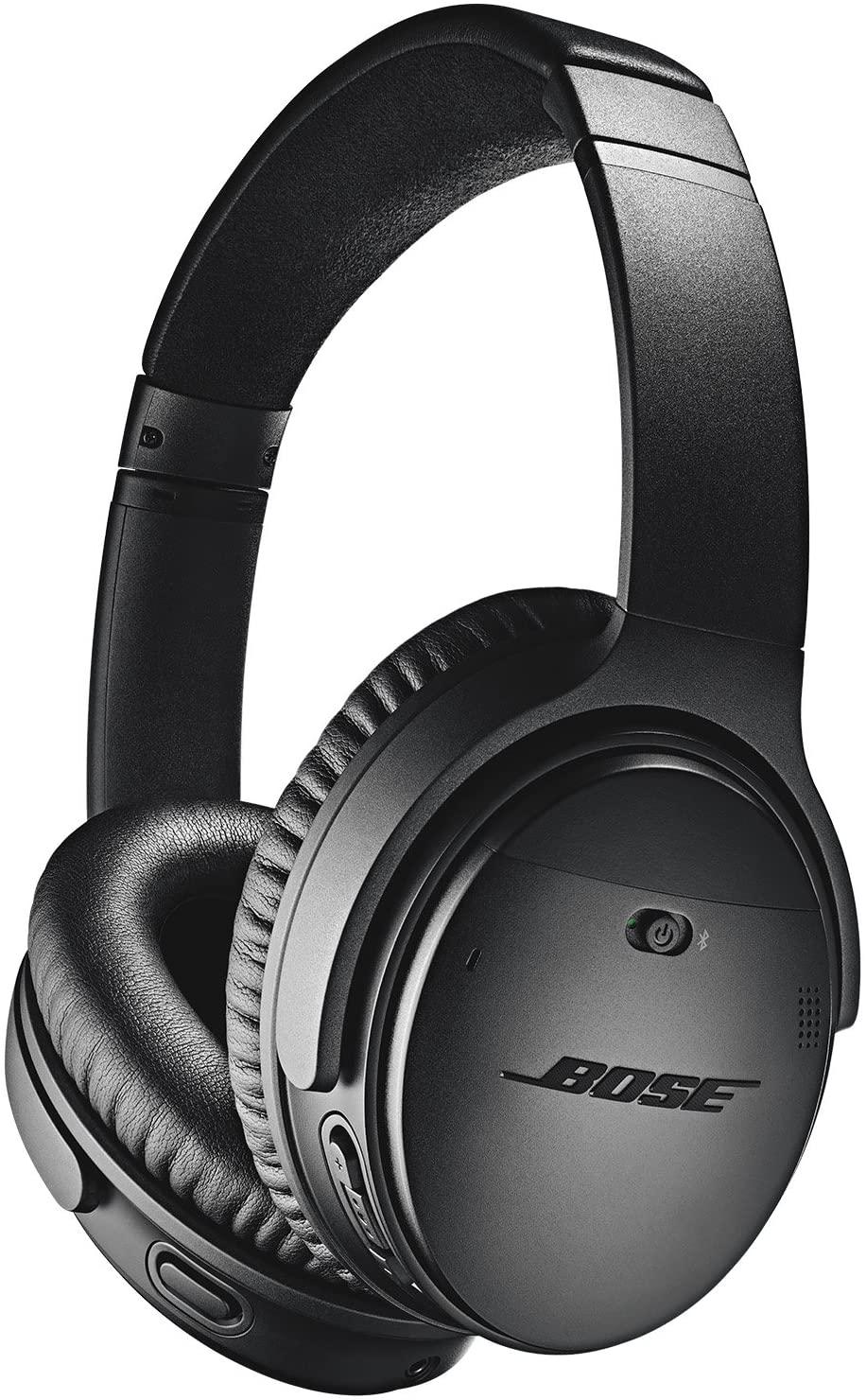 Casque audio sans fil à réduction de bruit active Bose QuietComfort 35 II - Argent ou Noir