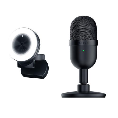 Pack Webcam Razer Kiyo + Micro Razer Seiren mini (noir)