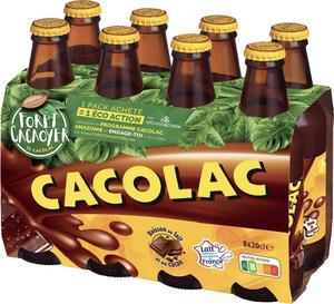 Pack de 8 Bouteilles de boisson chocolatée Cacolac (8x 20 cL)