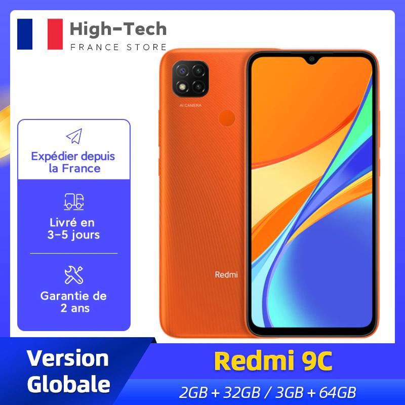 "Smartphone 6.5"" Xiaomi Redmi 9C - 2 Go RAM, 32 Go"
