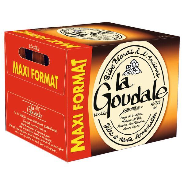 Pack de 12 bouteilles de bière blonde ou ambrée La Goudale - 12x25 cl