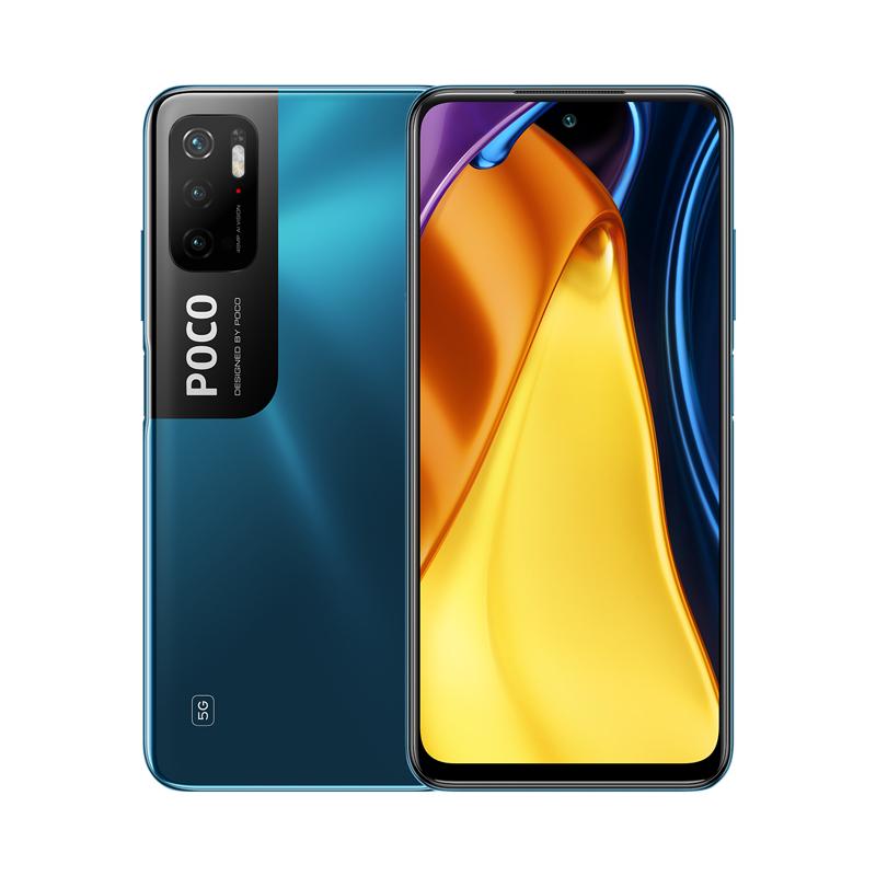 """Smartphone 6.5"""" Xiaomi Poco M3 Pro 5G - 4 Go RAM, 64 Go ROM, Bleu ou Noir"""