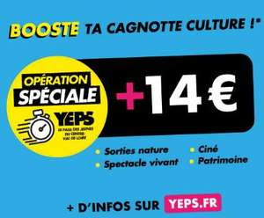 [15-25ans] 14€ offerts dans les lieux culturels Ciné, Visite de Châteaux, Musées, Parcs et jardins) - Centre-Val de Loire