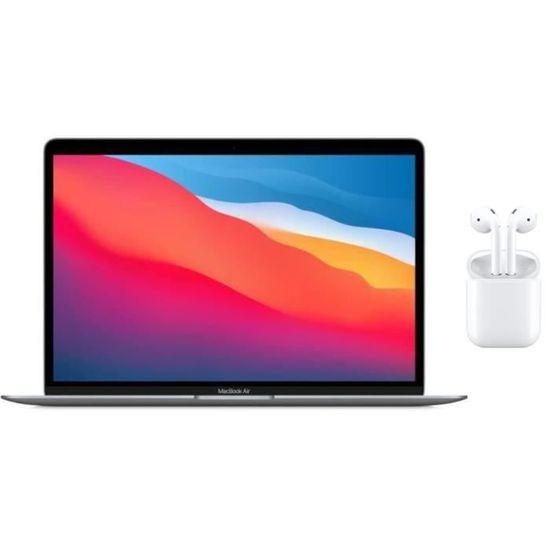 """Pack PC portable 13.3"""" Apple MacBook Air 2020 (M1, 8 Go de RAM, 256 Go en SSD) + écouteurs sans-fil Apple AirPods"""