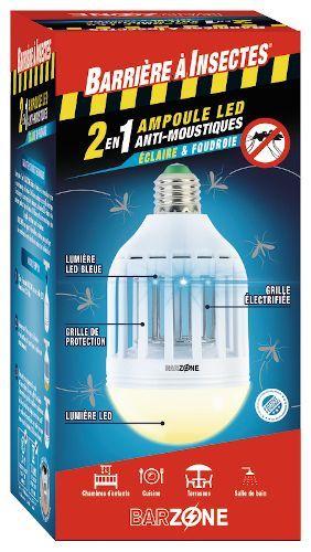 Barzone Ampoule Anti-moustiques Éclairante Intérieure/Extérieure (pharmacielafayette.com)