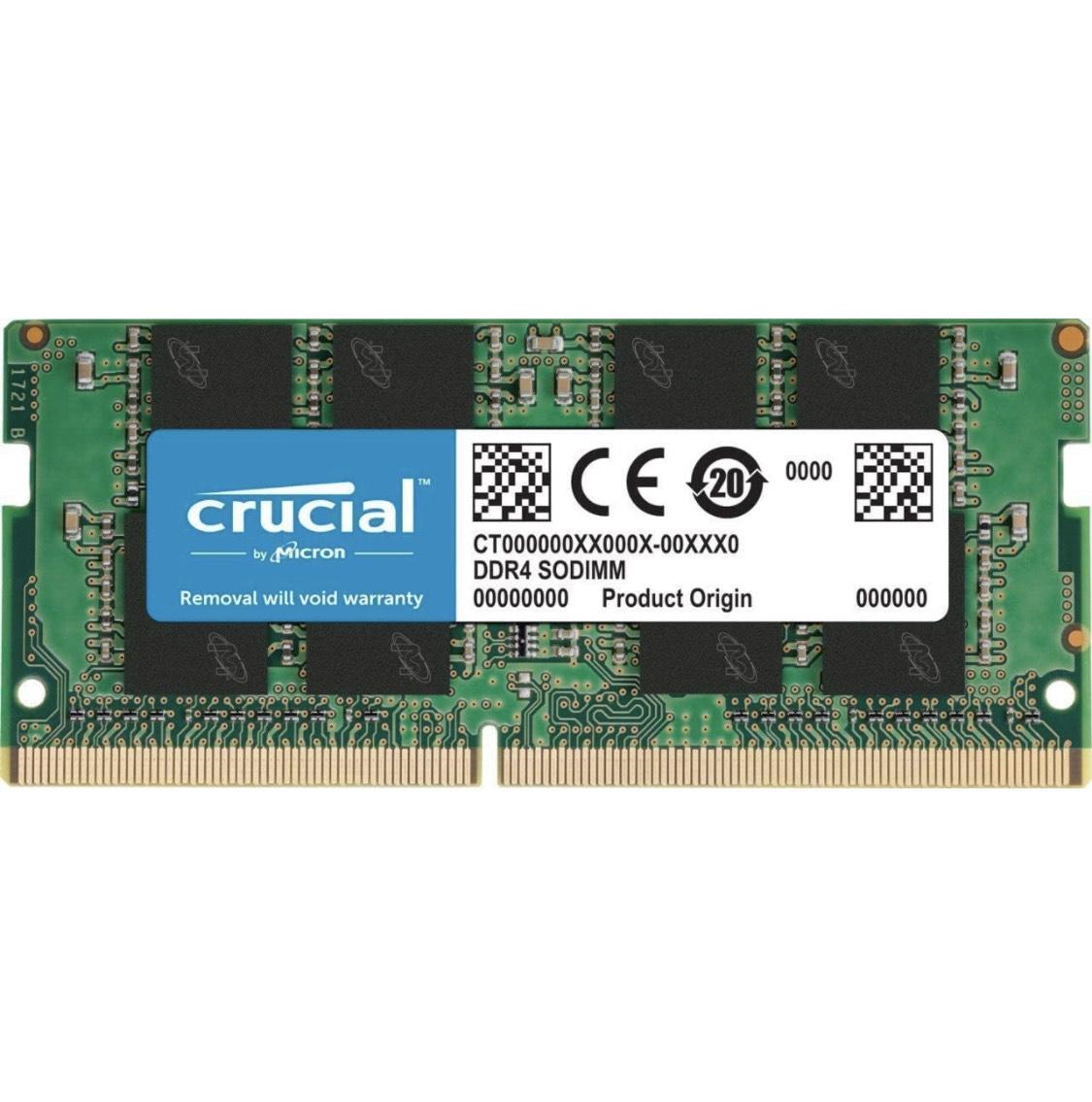 Barrette de mémoire RAM Crucial CT16G4SFRA32A - 16 Go, Sodimm, DDR4, 3200 MHz, CL22