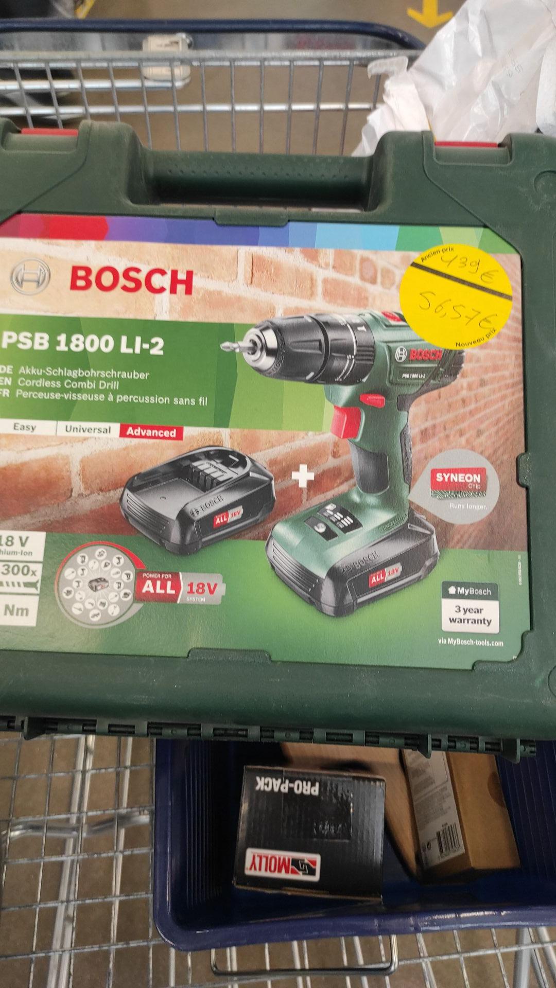 Perceuse à percussion sans fil Bosch PSB1800LI-2 18V - Dardilly (69)