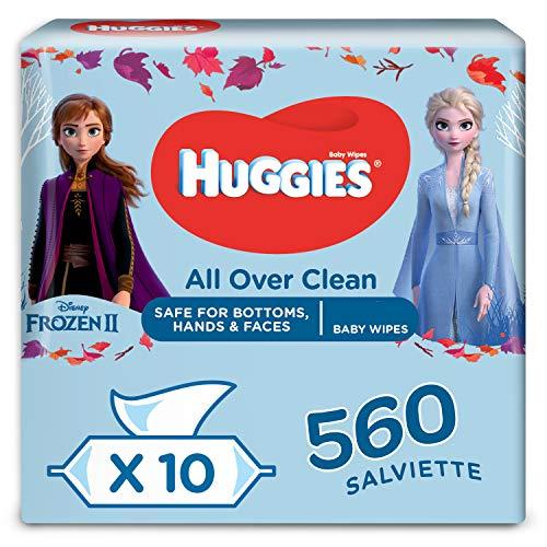10 Packs de 56 Lingettes bébé Huggies avec motifs Disney Mega Pack