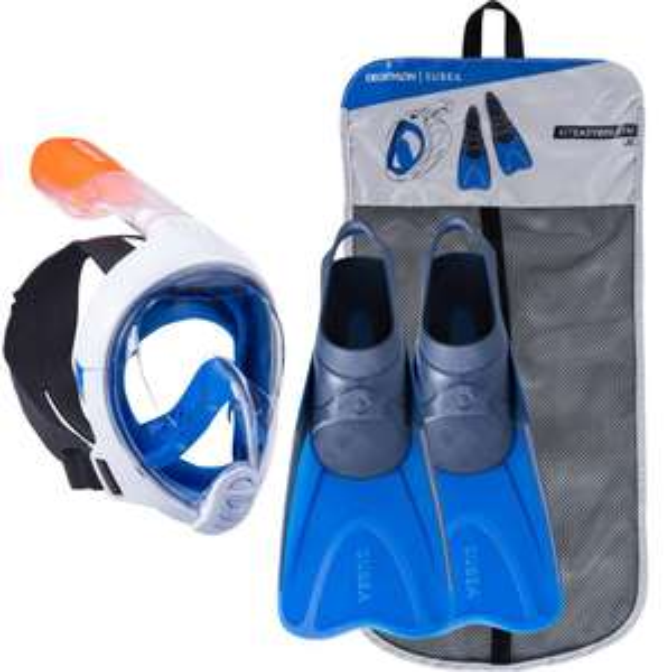 Kit de snorkeling adulte ou junior - Masque Easybreath et palmes