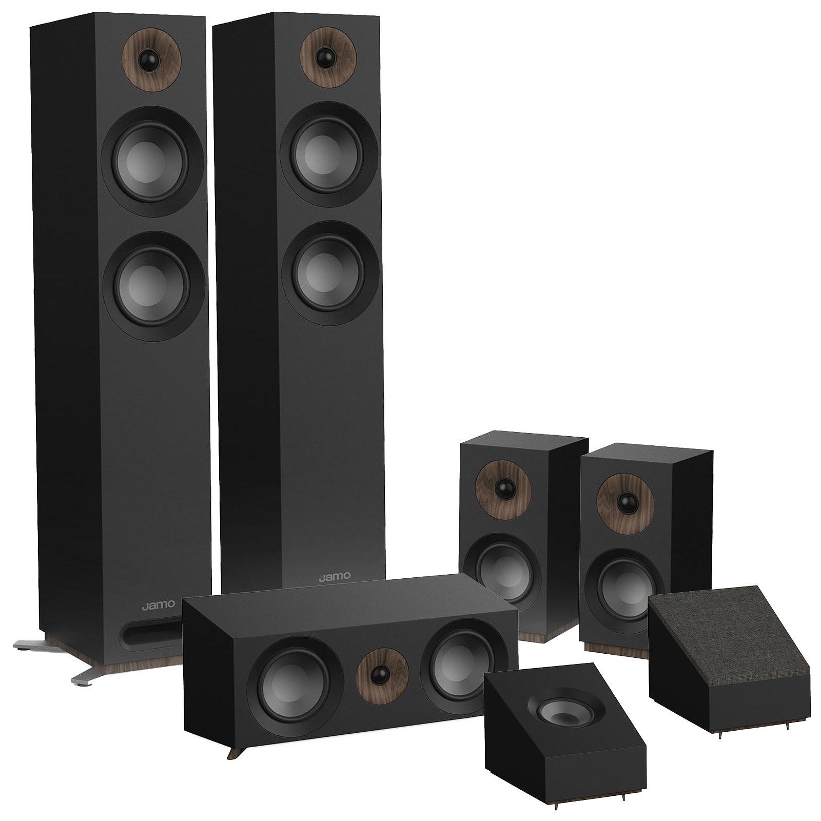 Pack d'enceintes Home Cinéma Jamo S807HCS 5.0.2BL + Enceintes Dolby Atmos S8ATM