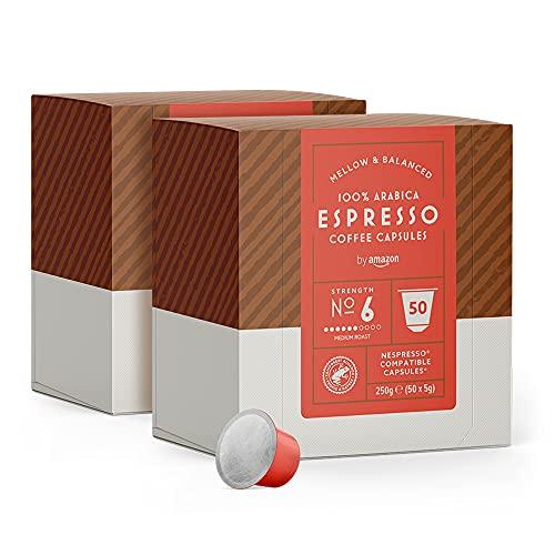 Capsules Espresso by Amazon compatibles Nespresso - 100 capsules (Divers variétés)