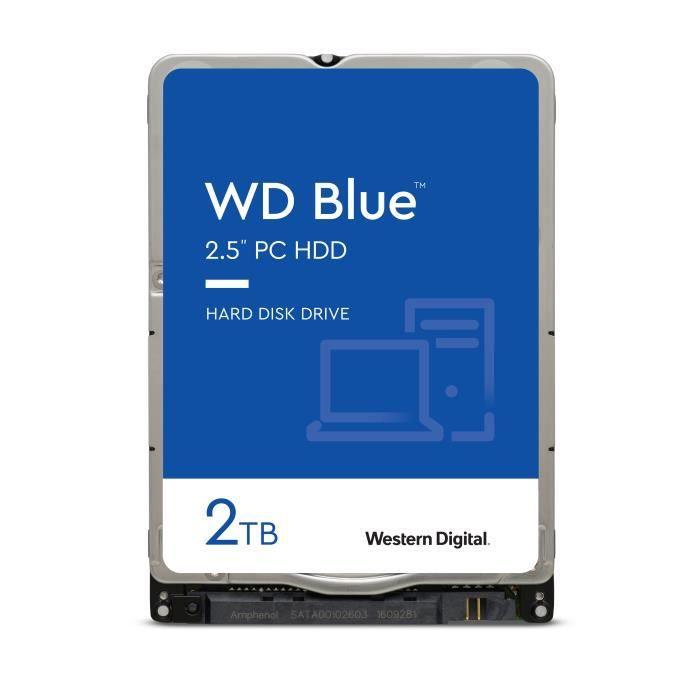 "Disque dur interne 3.5"" WD Blue WD20EZBX - 2 To, 7200 RPM, 256 Mo, SMR"