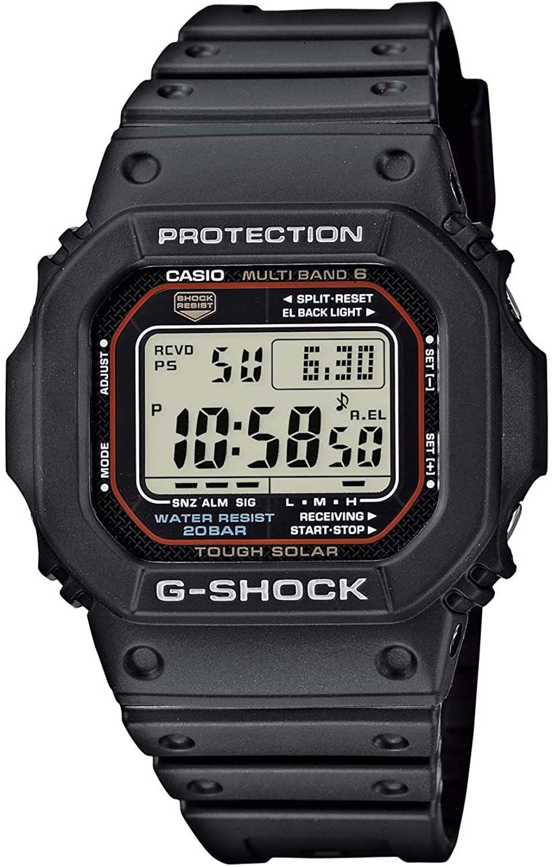 Montre Casio G-Shock GW-M5610-1ER - Piloté radio & solaire, Résine noire