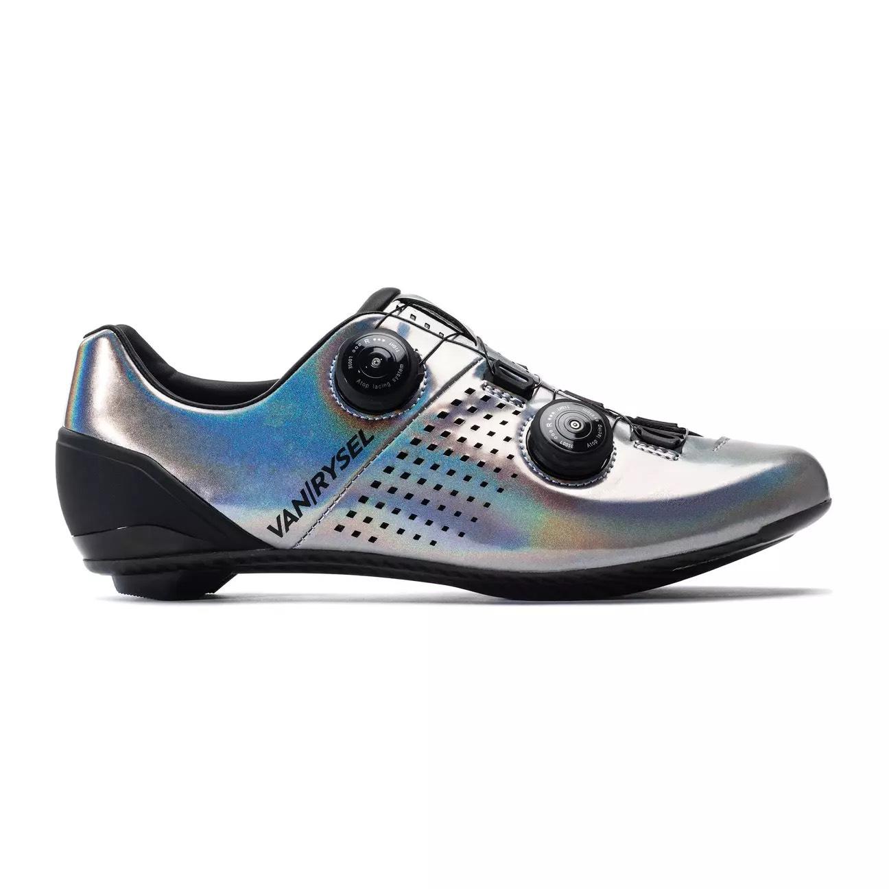 Chaussures vélo carbone Van Rysel - Gris clair