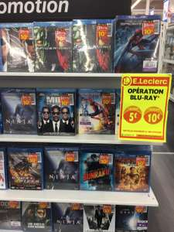1 Blu-ray parmi la sélection à 5€ ou 3 blu-ray