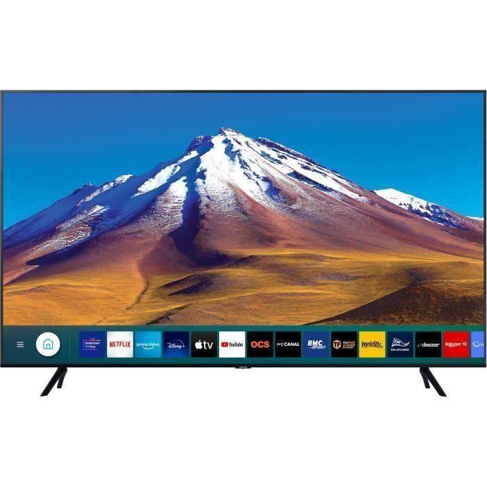 """TV 55"""" Samsung 55TU7022 - 4K, LED, HDR10+/HLG, Processeur Crystal, Smart TV"""