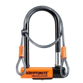 Antivol Kryptonite U Evolution Mini 7 avec Flex FUB 2 roues Niveau de sécurité 7/10 Noir et Gris