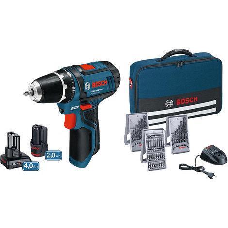 Perceuse Visseuse Bosch PRO GSR 10,8-2-LI - 2 batteries, chargeur et accessoires (39 pièces)
