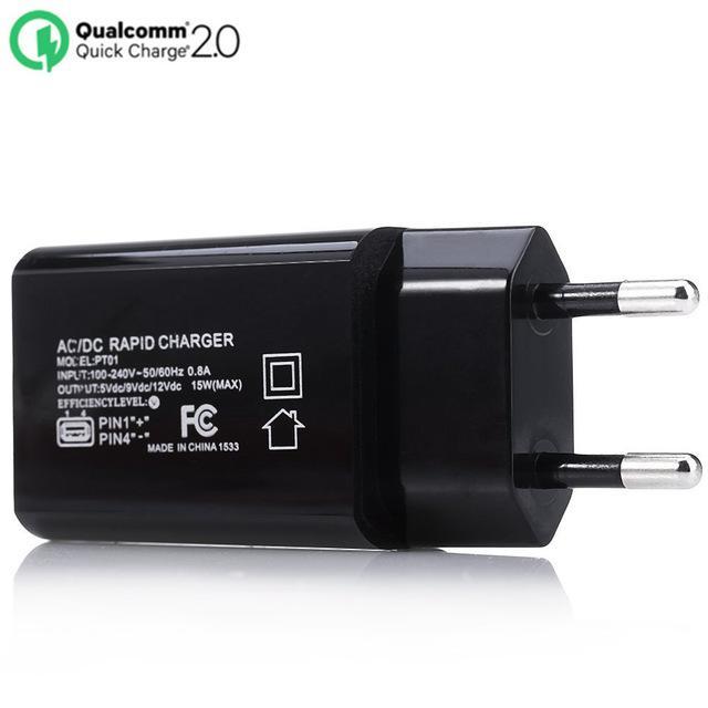 Chargeur certifié Qualcomm Quick Charge 2.0