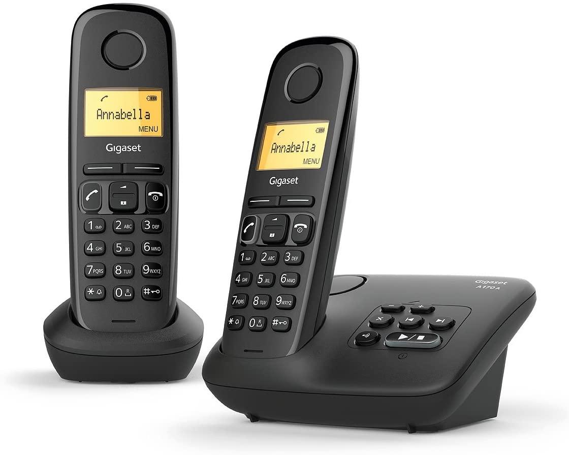 Téléphone fixe Gigaset AL170A Duo - avec répondeur, noir